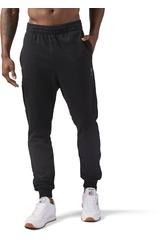 Reebok Negro de Hombre modelo EF ZIPPED JOGGER Deportivo Pantalones