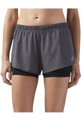 Reebok Gris / plomo de Mujer modelo 2-1 SHORT Deportivo Shorts