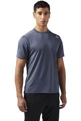 Reebok Gris Oscuro de Hombre modelo US MELANGE TEE Polos Camisetas Deportivo