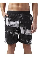 Reebok Negro / Blanco de Hombre modelo SPEED SHRT-GEOC Deportivo Shorts