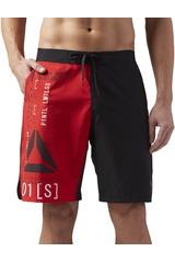 Reebok Negro / rojo de Hombre modelo EPIC LIGHTWEI-SH Deportivo Shorts