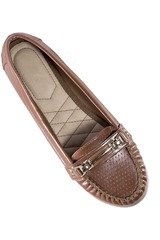 Just4u Marron de Mujer modelo M 122 Zapatos Casual Mocasínes