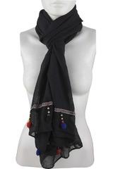 Bufanda de Mujer Platanitos Negro 1025020