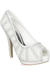 Calzado Fiesta de Mujer Platanitos CP 8S5 Blanco