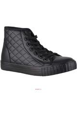 Just4u Negro de Mujer modelo ZB-6081 Botínes Zapatillas Casual Zapatillas casual