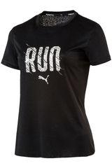 Puma Negro de Mujer modelo Run S/S Tee W Deportivo Polos
