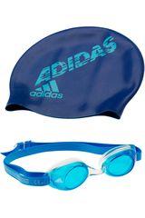adidas Azul de Jovencita modelo SW KIDS PACK Gorros Lentes