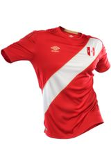 Umbro Rojo de Hombre modelo PERU AWAY WC JERSEY S/S Polos Camisetas Deportivo