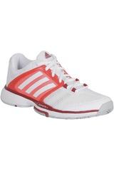 Zapatilla de Mujer adidas BARRICADE TEAM 4 W Blanco / Rojo