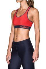 Under Armour Rojo de Mujer modelo Armour Mid Solid Tops Deportivo