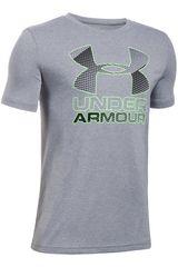 Under Armour Gris / Verde de Jovencito modelo Big Logo Hybrid 2.0 SS T Polos Deportivo