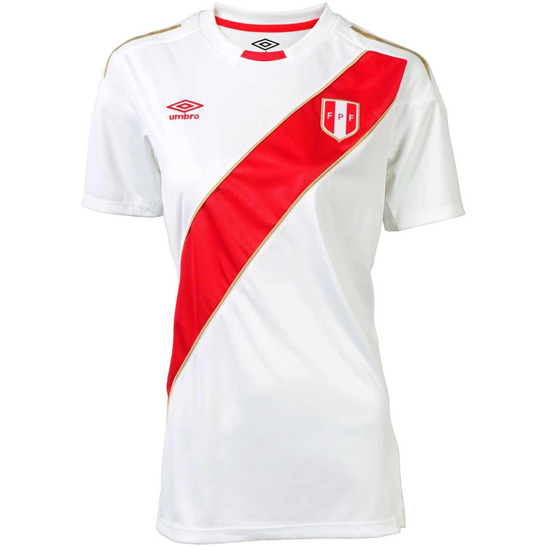 Camiseta de Mujer Umbro Blanco peru home wc jersey s s women ... f9228420225d4