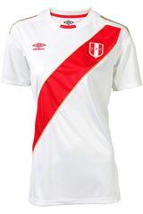 Umbro Blanco de Mujer modelo PERU HOME WC JERSEY S/S WOMEN Camisetas Deportivo