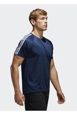 adidas Azul / Blanco de Hombre modelo D2M Tee 3S Deportivo Polos