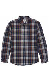 Billabong Navy de Hombre modelo COASTLINE FLANNEL Casual Camisas