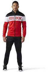 Reebok Negro / Rojo de Hombre modelo TS CUFFED TRACKSUIT Buzos Deportivo