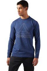 Reebok Azul de Hombre modelo EL MARBLE GROUP CREW Poleras Deportivo