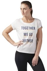 cf084d58d Reebok Blanco de Mujer modelo FURTHER TOGETHER EASY TEE Deportivo Polos