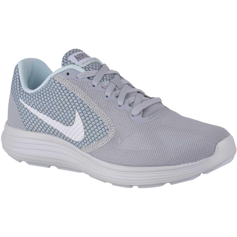 newest bf7de d6eb8 Zapatilla de Mujer Nike Celeste   gris wmns revolution 3