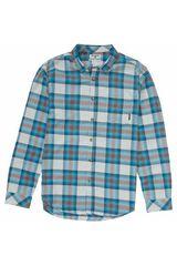 Camiseta de Hombre Billabong Celeste / gris FREEMONT FLANNEL