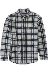 Camisa de Hombre Billabong Negro /gris FURNACE FLANNEL