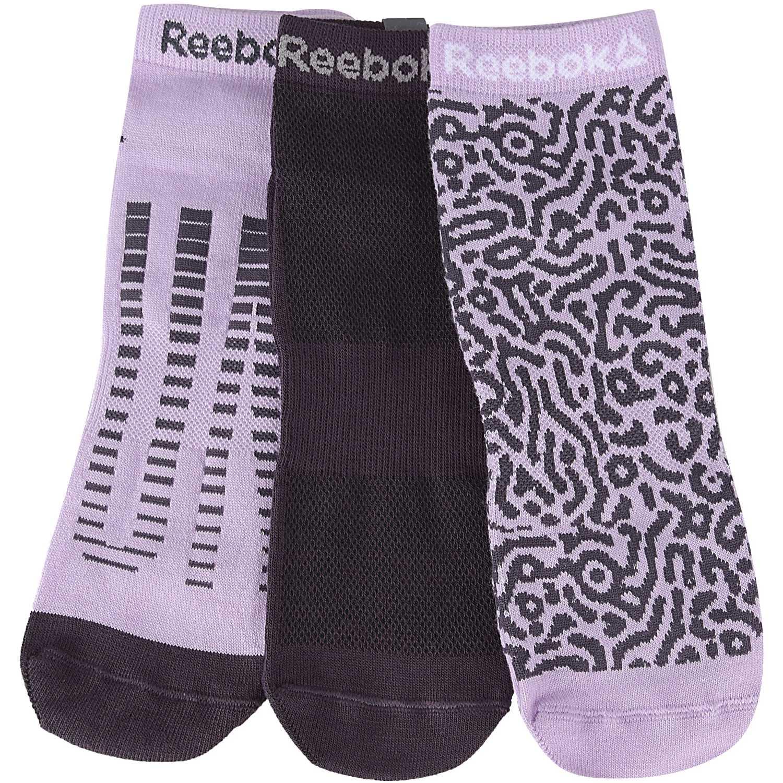 Media de Mujer Reebok Lila / negro run club womens 3p sock (3 pares)