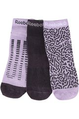 Media de Mujer Reebok Lila / negro run club womens 3p sock (3 pares)