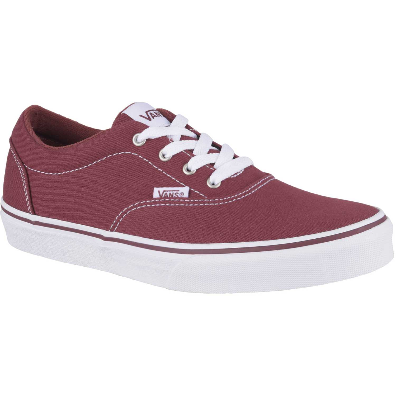 ec719a6cec71a Zapatilla de Jovencita Vans Rojo   blanco doheny