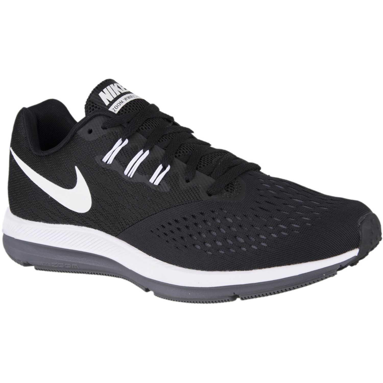 Zapatilla de Hombre Nike Negro  Blanco zoom winflo 4