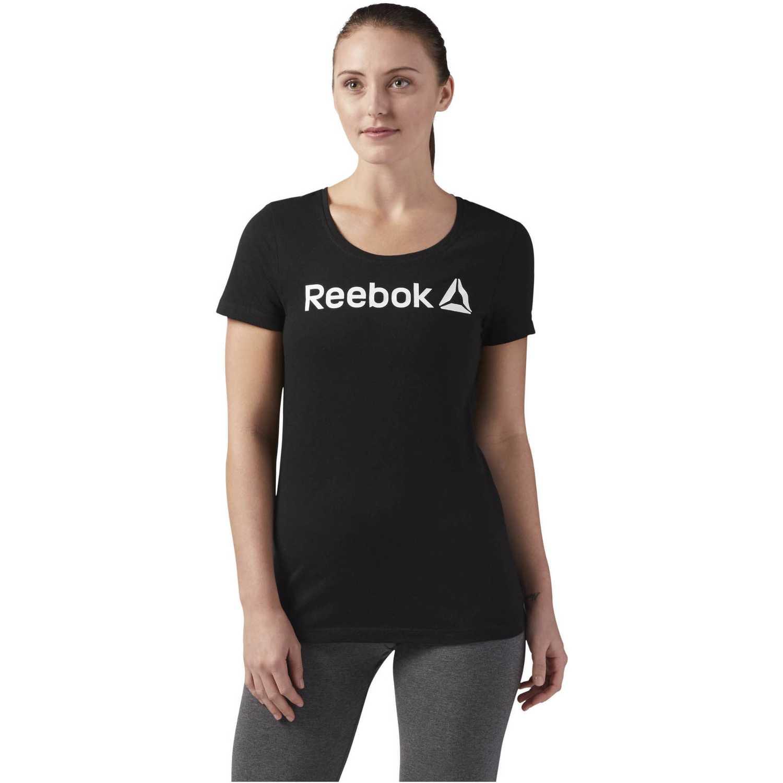 ffcd652f8 Polo de Mujer Reebok Negro reebok linear read scoop