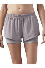 Reebok Gris de Mujer modelo 2-1 SHORT Deportivo Shorts