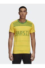 adidas AM/VE de Hombre modelo BRAZIL CI TEE Polos Deportivo