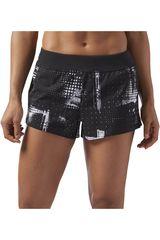Reebok Negro / blanco de Mujer modelo 3in Woven Short - Geocast Deportivo Shorts