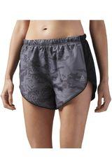 Reebok Negro /gris de Mujer modelo RE 4IN SHORT PRINT Deportivo Shorts