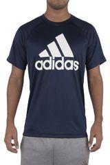 adidas Azul / Blanco de Hombre modelo D2M TEE LOGO Polos Deportivo