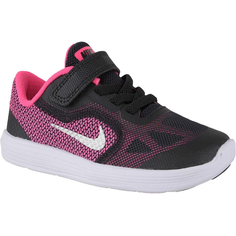 5d047bf1c Zapatilla de Niña Nike Negro   Rosado revolution 3 gtv