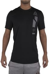 Reebok Gris Oscuro de Hombre modelo TECH TOP GRAPH-L Polos Deportivo