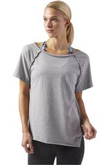 Reebok Gris de Mujer modelo Washed Graphic Tee Deportivo Polos