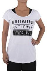 Everlast Blanco / Negro de Mujer modelo POLERA EXPAND Polos Deportivo