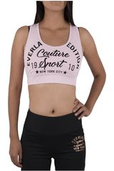 Everlast Rosado / Negro de Mujer modelo PETO BASIC Tops Deportivo