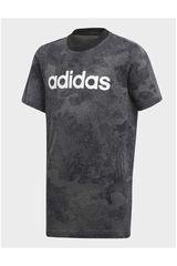 adidas Gris Oscuro de Jovencito modelo YB LIN TEE Polos Deportivo