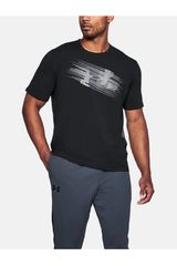 Polo de Hombre Under Armour Negro /gris UA Phase Big Logo