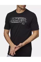 Under Armour Negro /Gris de Hombre modelo UA Phase Wordmark SS Polos Deportivo