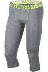 Nike Gris / Verde de Hombre modelo M NP TGHT 3QT Pantalones Deportivo
