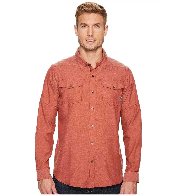 Camisa de Hombre Columbia Ladrillo pilsner peak ii long  a1dce6bee3d
