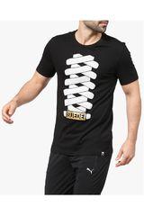 Puma Negro de Hombre modelo SUEDE TEE Polos Deportivo