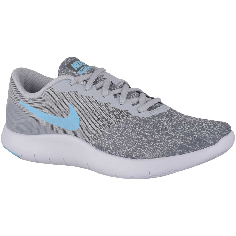 Zapatilla de Jovencito Nike Gris / celeste nk flex contact gg