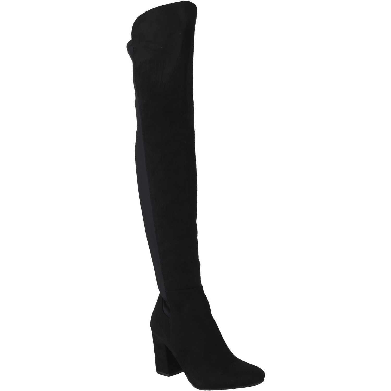 Bota Larga de Mujer Platanitos Negro b marcus81