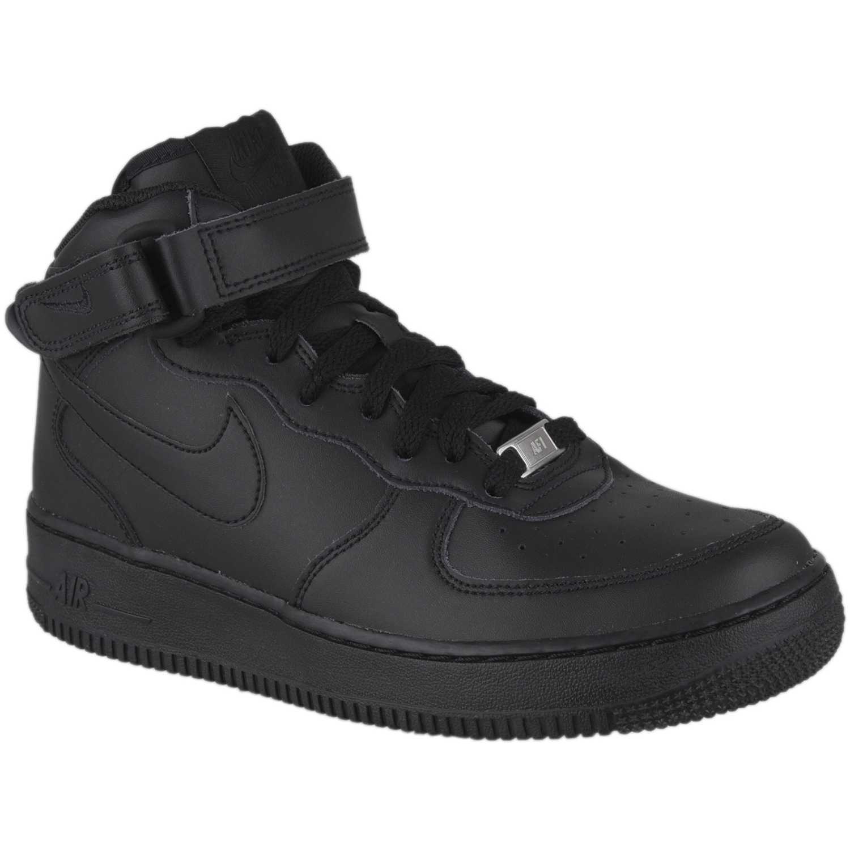 Zapatilla de Jovencito Nike Negro nk air force 1 platanitos mid bg  platanitos 1 c38be2