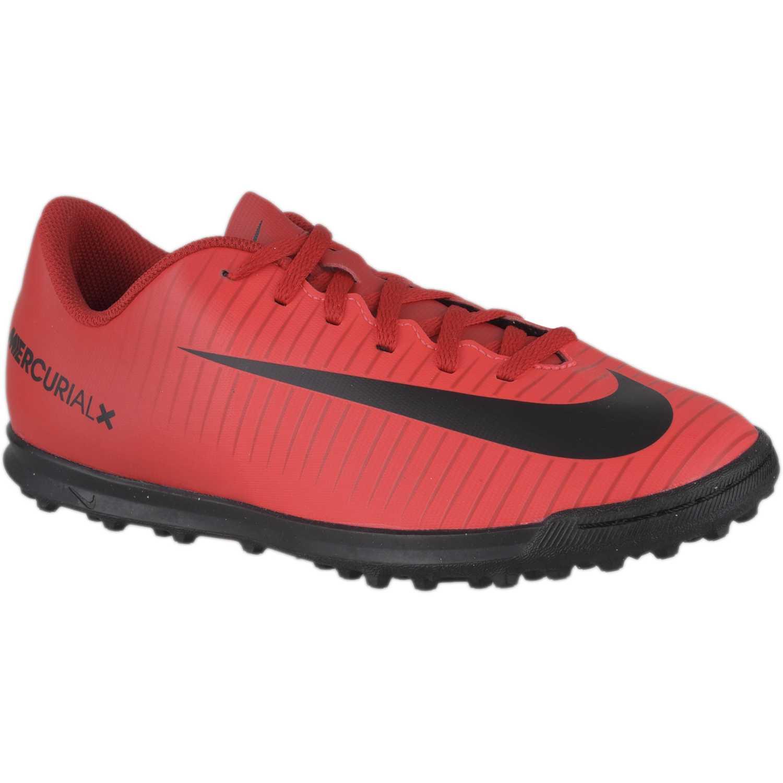 Zapatilla de Jovencito Nike Rojo / negro jr mercurialx vortex iii tf